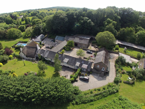 Budleigh Farm from above.